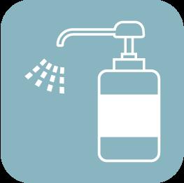 スタッフの手洗い・消毒の徹底